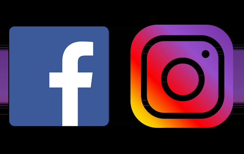 facebook and instagram post sharing logo